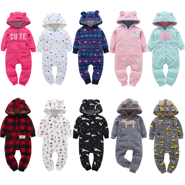 a5b7c46cc Winter Style Baby Rompers Clothes Long Sleeve100% Cotton Coveralls ...