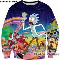 PLstar Cosmos Fashion 3D Sweatshirt Cartoon Rick And Morty Print Sportswear Hip Hop Mens Pullovers Sweatshirts