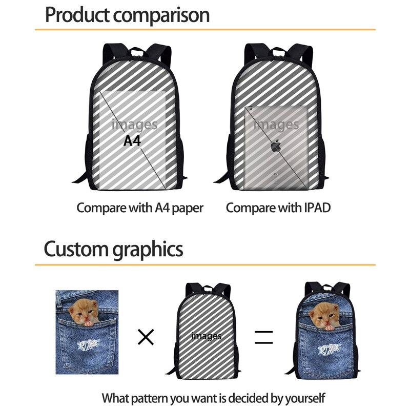 THIKIN African Style Schoolbag Vintage Pattern Print School Bag Backpack For Kids Girls Boys Retro Satchel Casual Female Daypack
