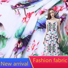 RUBIHOME New Arrival Wholesale (1 meters/lots) Summer Soft Chiffon Fabric for Making Women Clothing Width 160cm Hot Sell