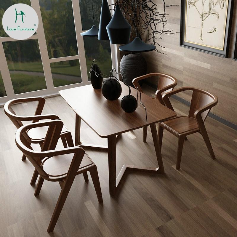 louis fashion table a manger en frene bois massif style nordique moderne et simple