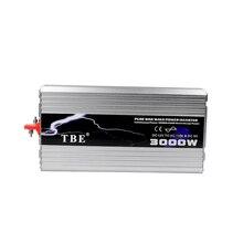 цена на DC 12V to AC 220V 3000W Pure Sine Wave Power Inverter For Solar/Wind/Car/Gas Power Converter