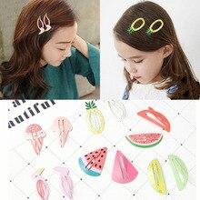 2PCS Korean Version Cute Cartoon Fruit Hairpin Watermelon Pineapple Strawberry Small Bangs Clip Children Hair Ornaments