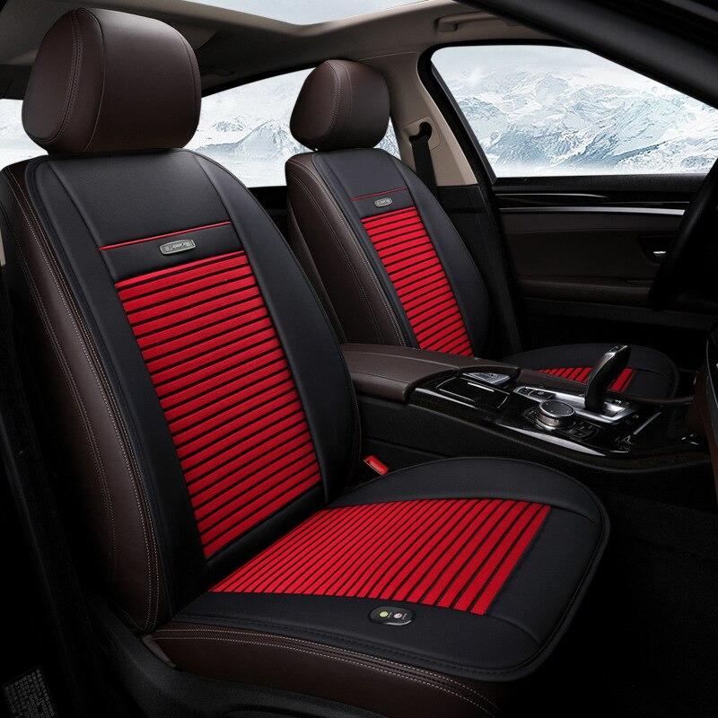 Cool pour la couverture de siège de voiture d'été couverture de voiture chauffante électrique universelle 12 V 24 V pour les housses de siège arrière de voiture avant