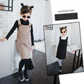 New Arrival 2016 Girl Sweater Dress Fashion Thick Wool Vest Dresses Fall and Winter Knitted Sweaters Clothing for Kids