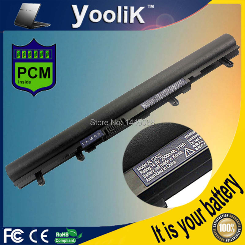 2600mAh 4 cells New Laptop Battery AL12A32 AL12A72 For ACER Aspire V5 V5-431 V5-471 V5-531 V5-551 V5-571 цена