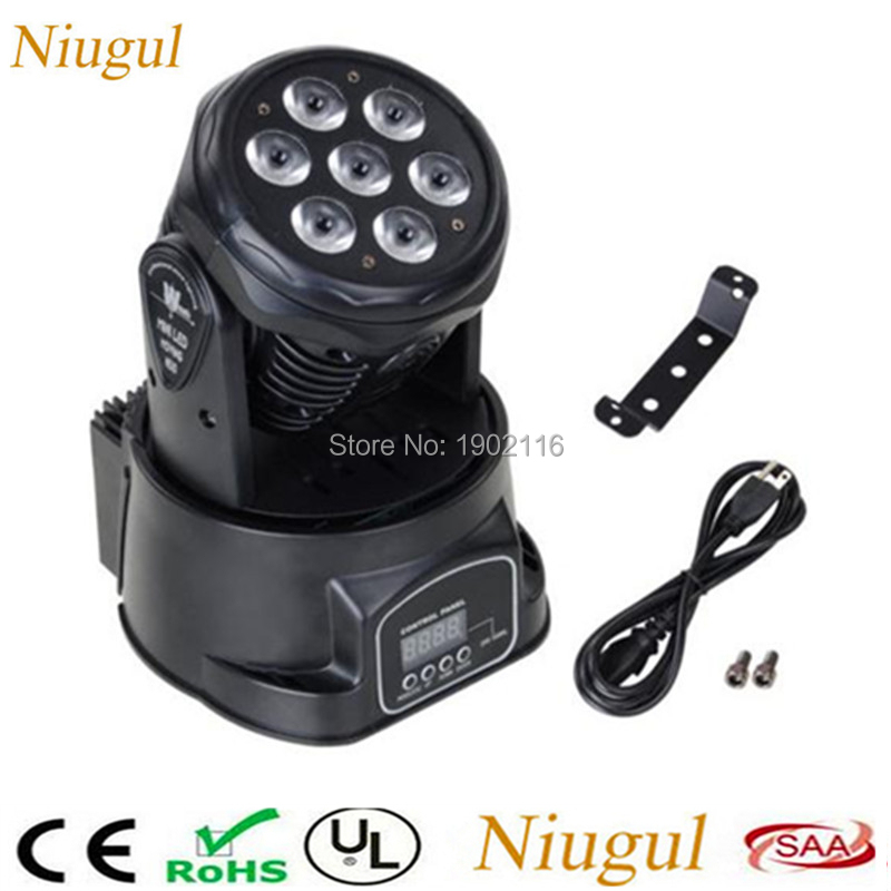 Best Quality 7x12W RGBW 4in1 DMX Effect Stage LED Moving Head Light/LED Wash Beam/DJ Club Disco Stage Party Lighting/LED Lamps super brightness 4x10w rgbw led mini beam moving head dj light led wash disco lighting led display dmx dj equipment for party