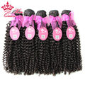 "Queen Hair Products Brazilian Kinky Curl Virgin Hair Human Hair Extension 5pcs lot Mixed 12""-28"" 100g/Bundle  Natural Black 1B#"
