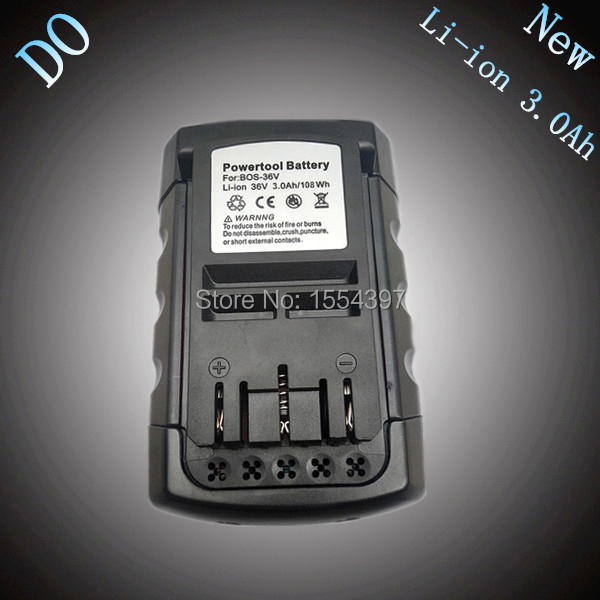 D-O 36V 3000mAh Rechargeable Lithium Ion Replacement Power Tool Battery for Bosch 36V 2 607 336 108 BAT810 BAT836 BAT840 D-70771 quik lok ad4 5