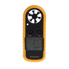 GM816 Mini Digital Anemometer Wind Speed Temperature Tester with LCD Backlight digital anemometer wind speed air volume humidity measurement tester backlight display support usb real time