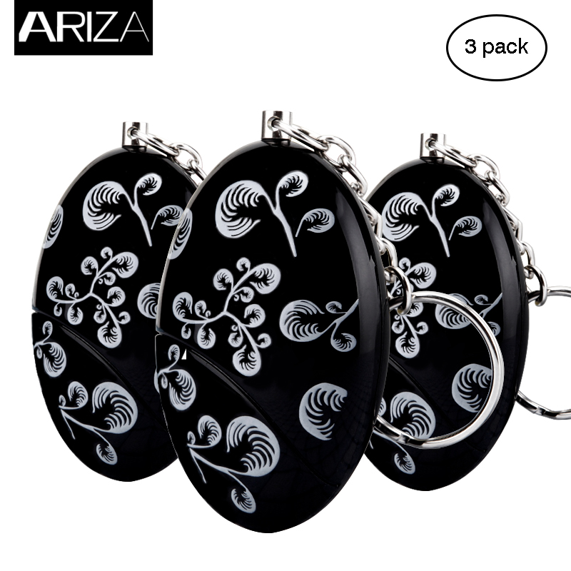 Ariza 3pcs mini self defense supplies emergency personal alarm security alarm anti-rape safety alarm for women as car key chain 2016 2pcs a lot self defense supplies alarm personal key ring protection alarm alert attack panic safety security rape alarm