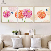 Beautiful Hydrangea Canvas Paintings Bright Adorable Butterfly Fresh Plants Art Prints On Canvas Decorative Picture Home Decor dazzle butterfly prints diamond paintings