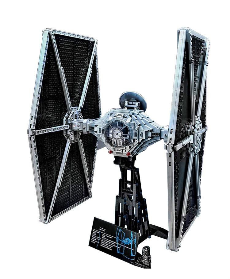 ФОТО 2017 New bricks 05036 1685Pcs Star Wars TIE Fighter Model Building Kits Darth Vader Mini Blocks Bricks Compatible Toy 75095