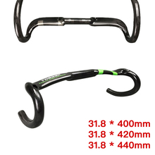цена на Road Bike Breaking Wind Handlebar Bicycle Carbon fiber Handlebar High Strength Bent Bar High Quality Accessories 31.8*400/420mm