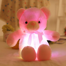 50cm Music Luminous LED Light Teddy Bears Stuffed Plush Toys Soft Lighting Pillow Stuffed Animals Plush Cushion Toys for Kids(China)