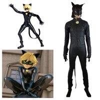 Ladybug Cat Noir Costumes Cosplay Kids Girls Children Spandex Romper Halloween Fancy Dress