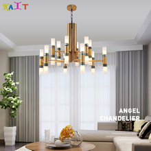 KAIT Nordic postmodern LED chandelier art villa living room lobby restaurant gold black white chandeliers ceiling