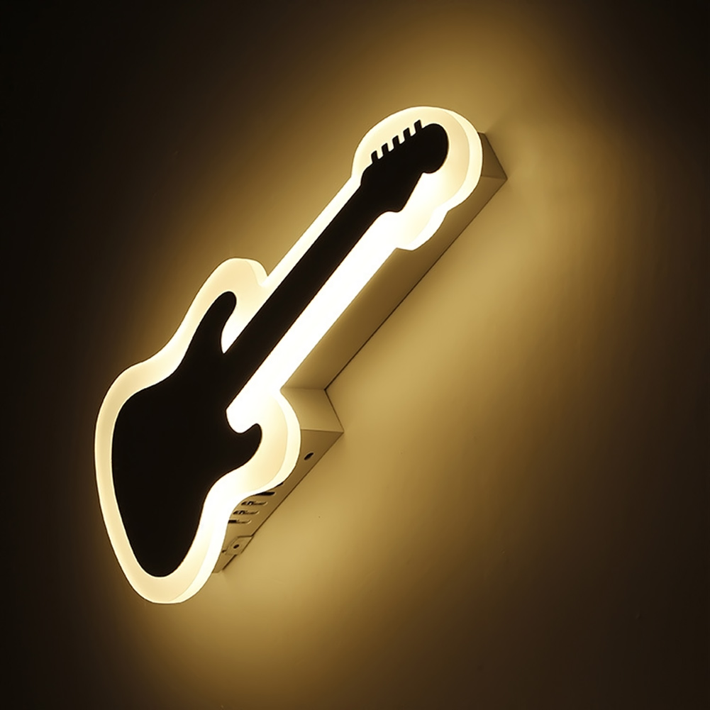 Led wall lamp The lamp of the head for bed bedroom Contemporary and contracted guitar creative corridor lighting the rhetoric of the contemporary lyric