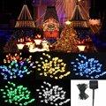 8 M de Hadas de La Lámpara de la Energía Solar Led Cadena de Luz Multicolor 60 LED Al Aire Libre Luz del Jardín de la Boda Holiday Decor lámpara