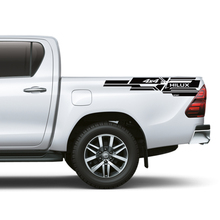 free shipping 2PC/set rear trunk gun 4x4 stripe graphic vinyl car sticker for toyota hilux revo vigo