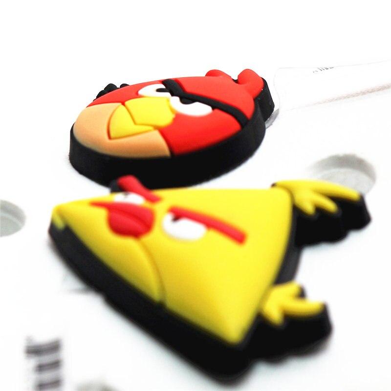 1pcs High Imitation Shoe Decorations Crazy Birds Shoe Buckles Charm Yellow/Red Accessories Fit Bracelets Croc JIBZ Kids Gifts