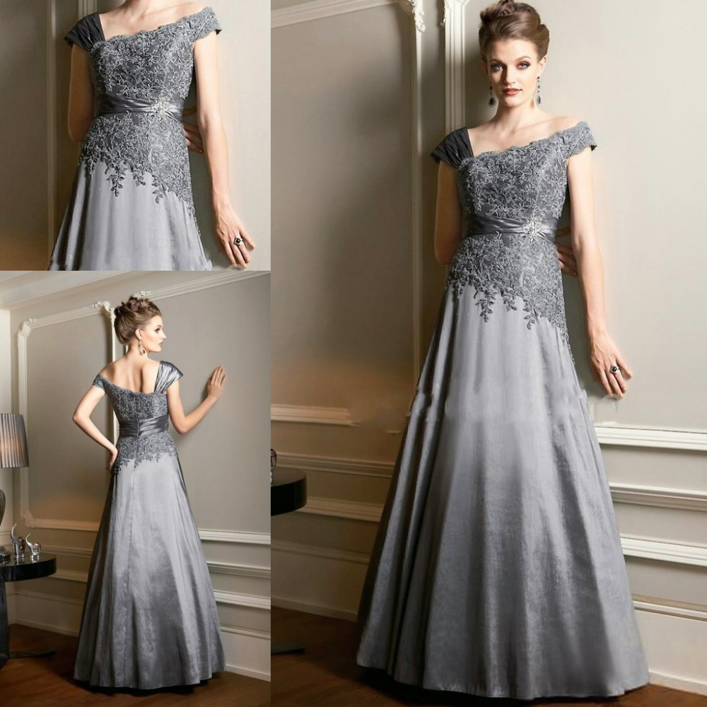 Popular Mother of The Bride Dress Silver Plus Size-Buy Cheap ...