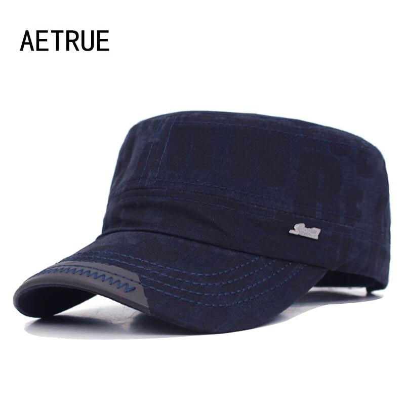 AETRUE Fashion Brand Men Baseball Cap Women Snapback Caps Vintage Hats For Men Flat Casquette Bone Sport Army Dad Baseball Hat