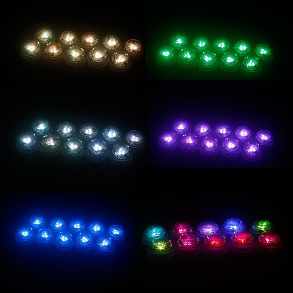 12PCS LED-lampor för fest, nedsänkbara LED-lampor LED-partilampor - Festlig belysning - Foto 4