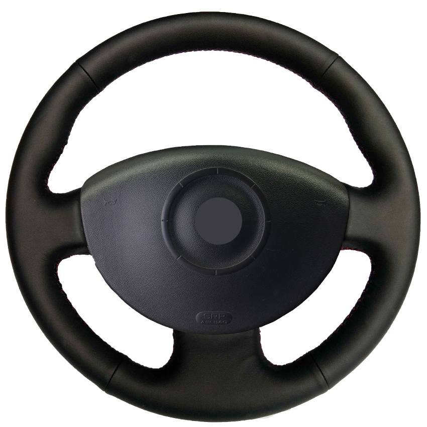 black leather hand stitched car steering wheel cover for. Black Bedroom Furniture Sets. Home Design Ideas