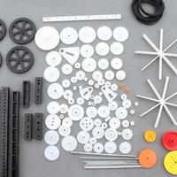 LeadingStar 92Pcs Plastic Gear Motor Gearbox Model Toy Boat Car Auto Craft DIY Accessories Zk30