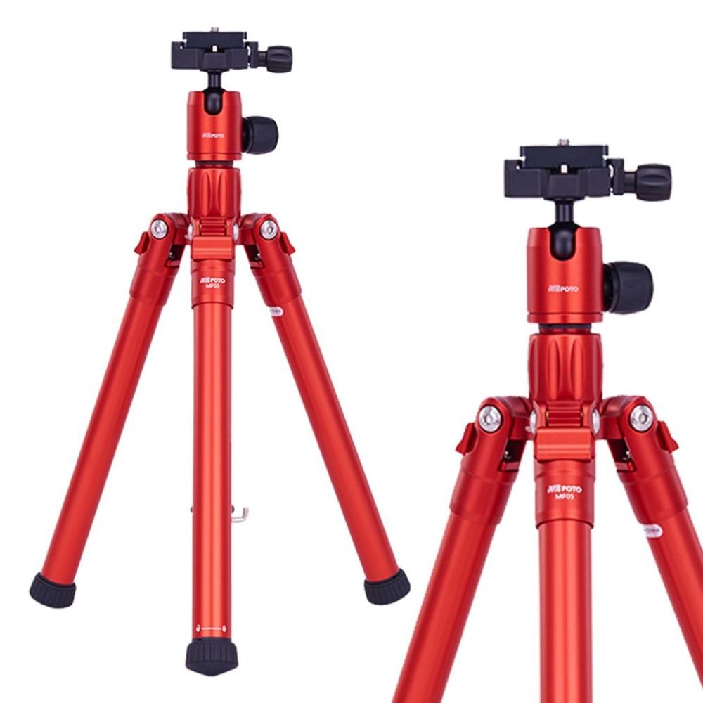 цена на MeFOTO MF05 Lightweight Reverse Folding Portable Camera Tripod Three Legs Camera Stand Support SLR Quick Open For Beginners SLR