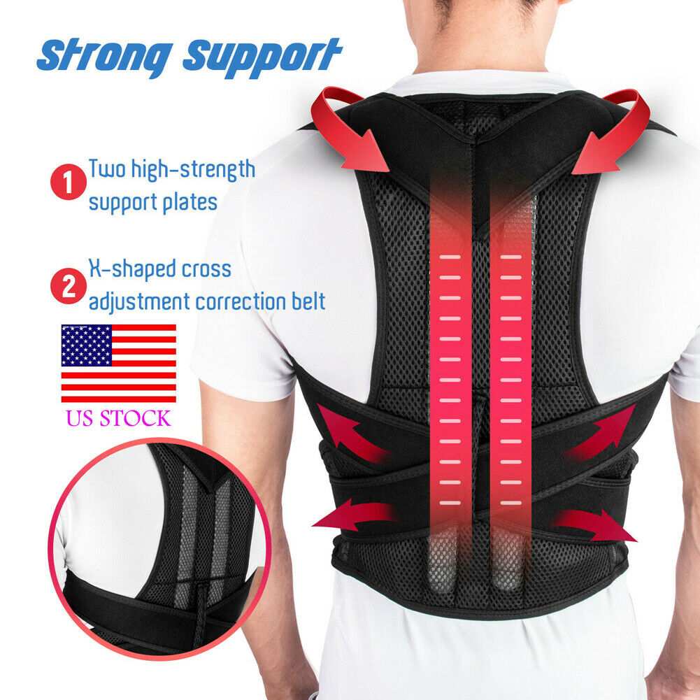 Magnetic Therapy Posture Body Corrector Pain Brace Shoulder Support Belt