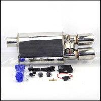 Автомобиль выхлопной трубы вакуумный насос переменной глушители клапанов дистанционное управление нержавеющая сталь Универсальный ID 63 мм