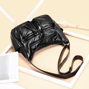 Image 2 - Burlie sacs à Main en cuir PU souple pour femmes, sacoches de bonne qualité pour dames, Sac à épaule de luxe lavé, nouvelle collection