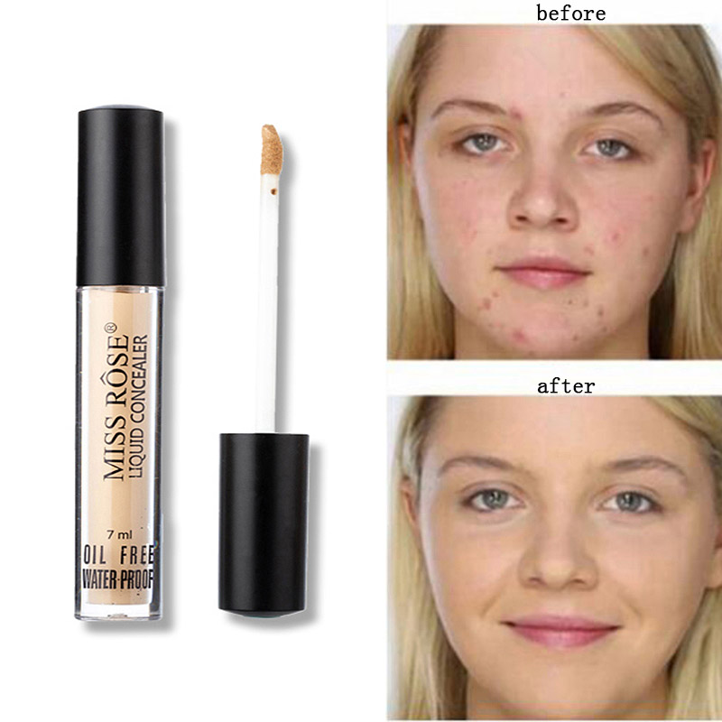 Miss Rose Makeup Full Cover Face Concealer Cream 4 Colors Oil Control Face&Eyes Contouring Liquid Foundation Concealer Corrector