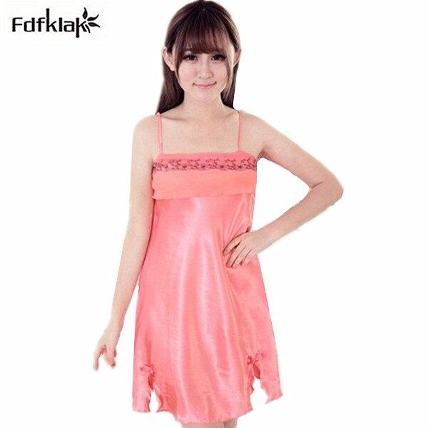 New 2017 Women Nightgowns Sleepshirts Sleepwear Cute Girl's Underwear Nightdress Sleep Lounge Womens Nightwear Summer Dress Q798