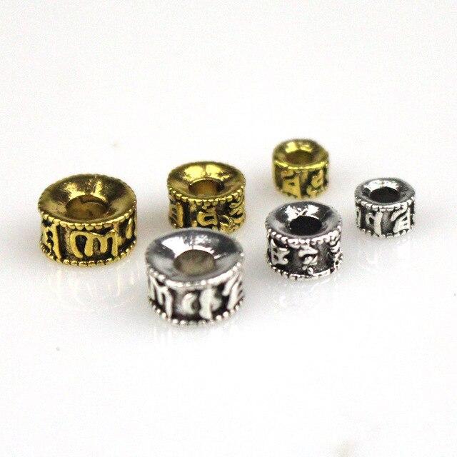 50 unids/lote espaciador de cuentas tibetanas Vintage 5 7 9mm Nepal cuentas de oración accesorios de budismo encanto de pulsera para joyería DIY hacer