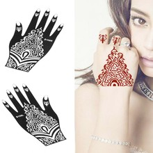 2Pcs/set Right And Left Hands Professional Hand-Painted Mexendi Templates Tattoo Stencils For Body Art Henna Tattoos S109