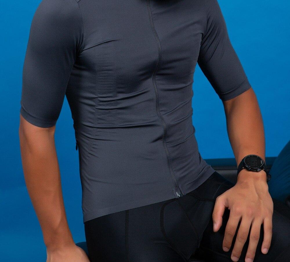 SPEXCEL Grau Top Qualität Pro Team aero kurzarm radfahren jersey pro fit leichte Voll gefärbt stoff hohe farbe echtheit