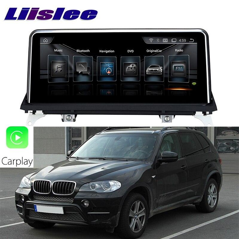 цена на LiisLee Car Multimedia GPS Audio Hi-Fi Radio Stereo For BMW X5 E70 2011~2013 Original CIC Style Navigation NAVI