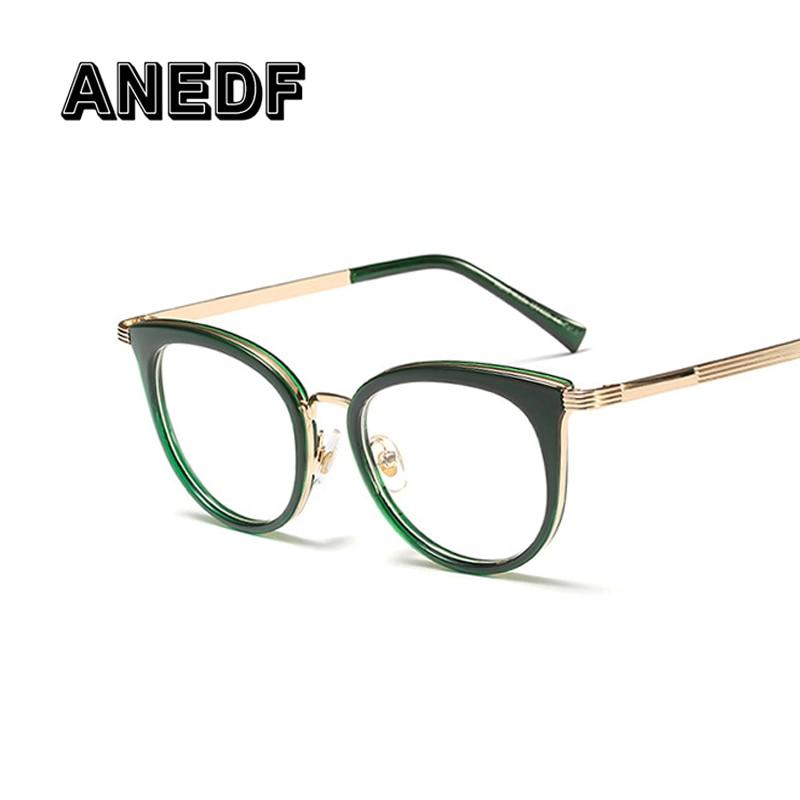f5834fb475e ANEDF Eyeglasses Frames Women Metal Cat Eye Glasses Frames Men Women Optical  Fashion Computer Glasses Oculos