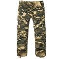 2016 Nuevo Invierno de Espesor de Alta Calidad Masculinos Pantalones de Camuflaje Táctico Militar Casual Mens Pant Multi Bolsillo Militar General