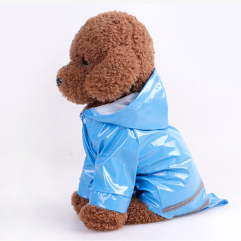 Pet Clothes Dog Raincoats PU Reflective With cap Windproof Puppy Cat Clothing Small Dog costume Pet Accessories Supplies product 2