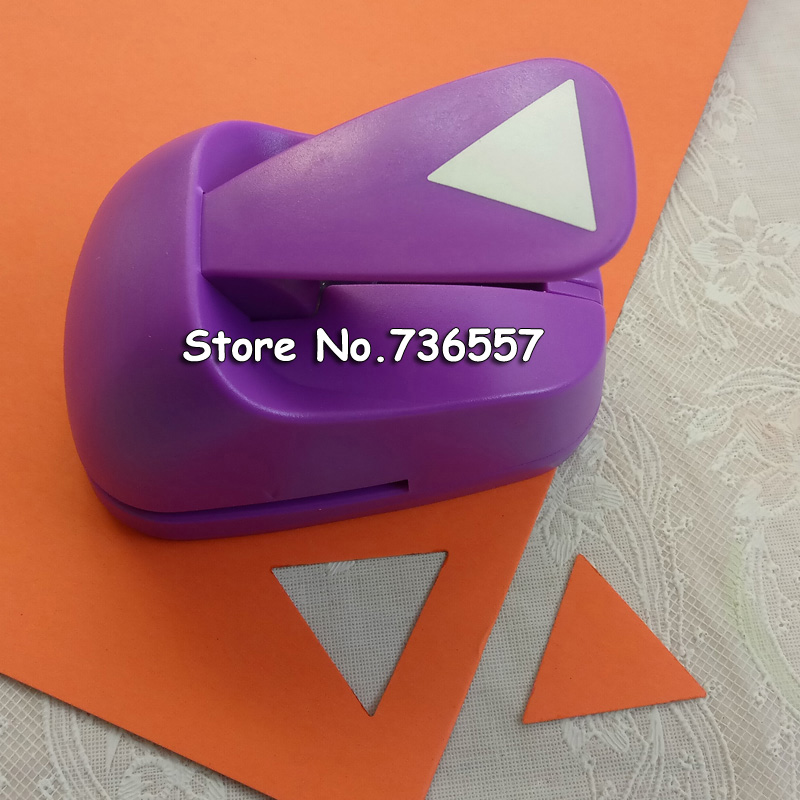 Free Ship 43MM Triangle shaped save power paper/eva craft punch Scrapbook Handmade punchers DIY hole punches geometry puncher 7 5cm diy paper printing card cutter scrapbook shaper save effort embossing device hole punch handmade decoration embossers yh35