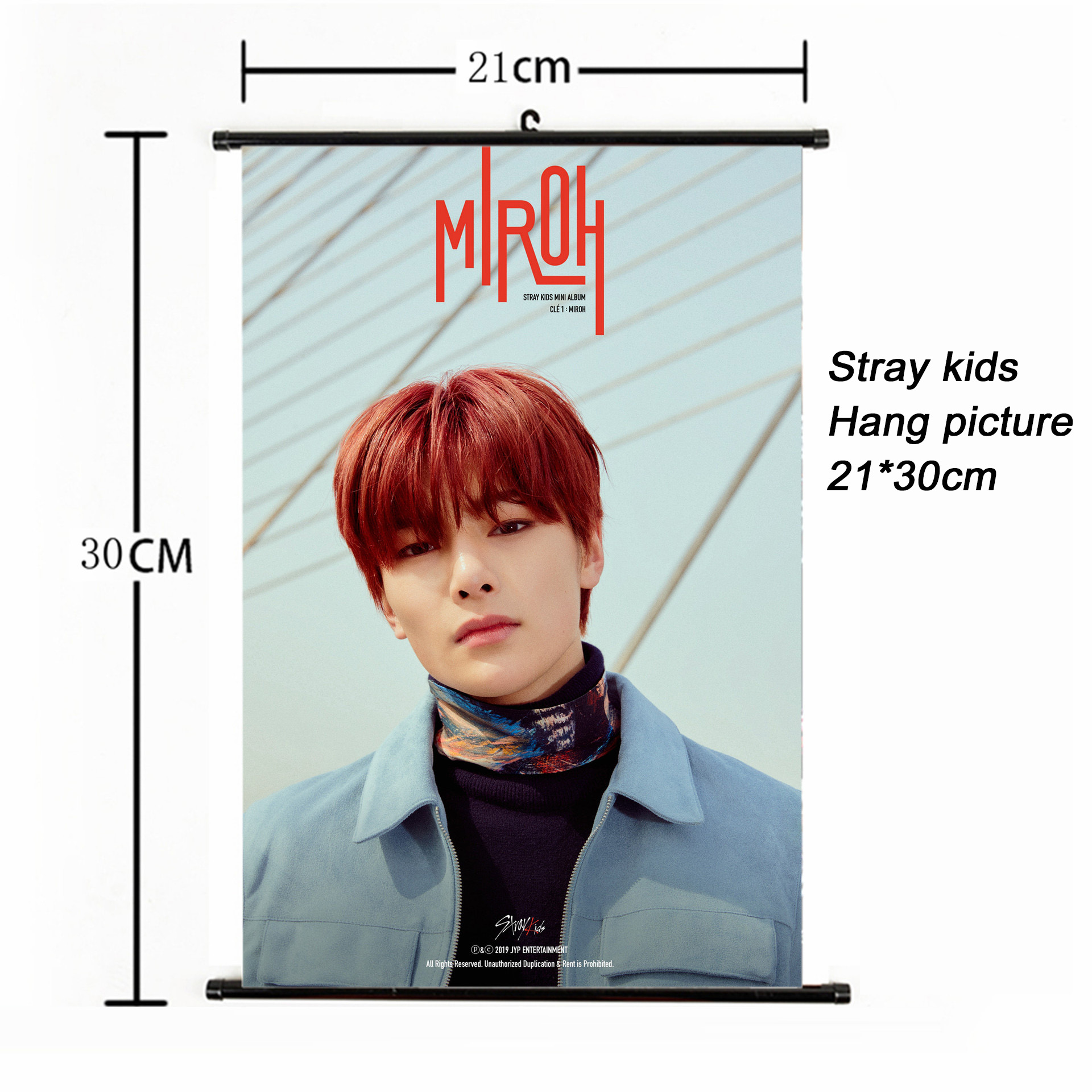 Fashion Kpop Stray Kids Hang Picture 21*30cm Poster Stray Kids MIROH Album Photocard For Fans Collection Korean Stationery Set