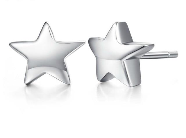 Nieuwe Vijf Ster Sterling Zilver 925 Oor Studs Neus Earring Pin 20 stks/doos groothandel gratis verzending