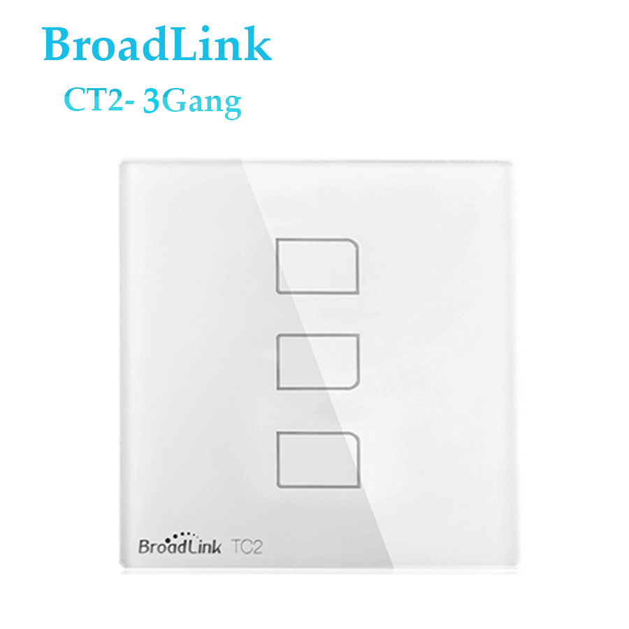 Cheap Broadlink TC2 3Gang Touch Switch UK Standard RF433 Wall Switch ...