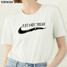 YOFOCOO Not Today Women T-Shirt Game of Thrones Print Casual Summer Top Tees For Fashion T-shirt