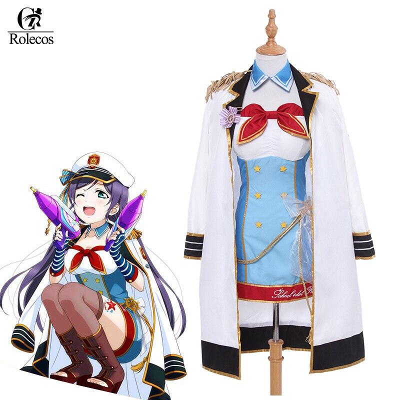 Rolecos Japanese Anime Lovelive Cosplay Costume Tojo Nozomi Cosplay Lovelive Naval Awakening Navy Uniform Costume Sets набор инструмента forsage 3351 5