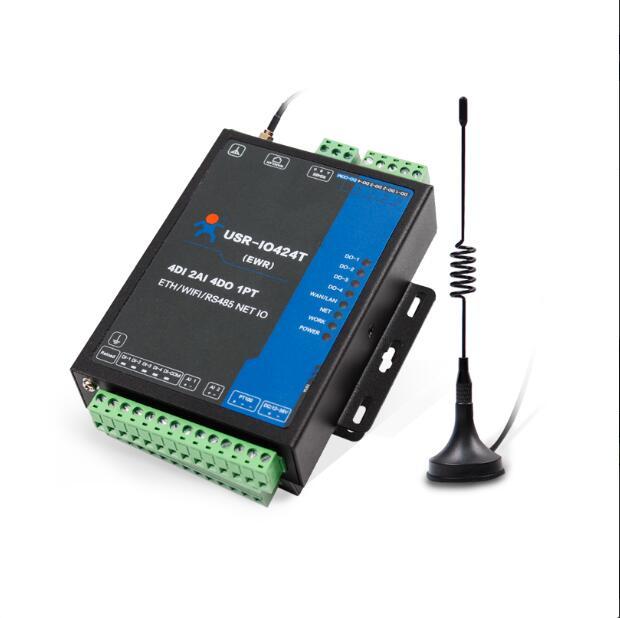 Contrôle d'automatisation 4 canaux réseau IO contrôleur télécommande commutateur RS485 à wifi ethernet prise en charge modbus